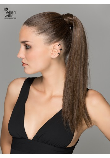 Coleta Postiza AQUA con mechón | cabello sintético moldeable | Entrega en 24-48h