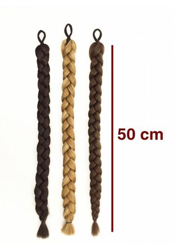 TRENZA POSTIZA sintética | 50 cm