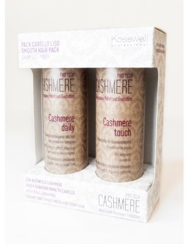 Kit Champú + Mascarilla cabello suave, liso, brillante con Proteína Cashmere