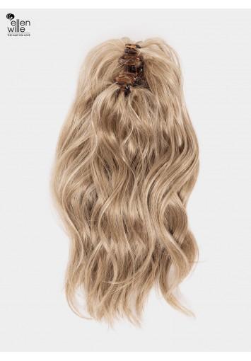 Coleta Postiza Prosecco con mechón   cabello sintético moldeable