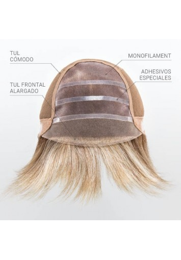 Peluca Indetectable Premium Aura para mujer, lace front, oncológica