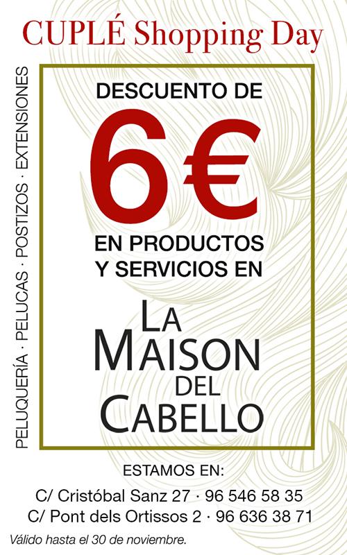 tarjeta-CUPLÉ-blog La Maison del Cabello en el CUPLÉ Shopping Day