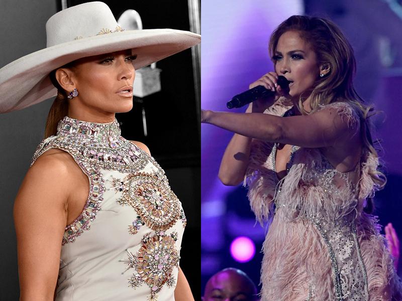 jennifer-lopez-grammys-2019 GRAMMYs 2019: La coleta despunta como tendencia entre las celebrities